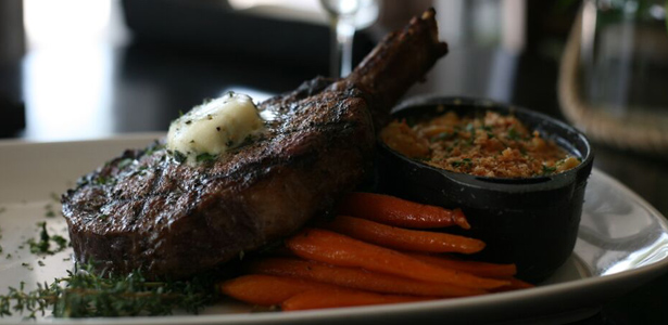 Image of lamb chop and carrots