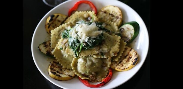 Image of vegetable ravioli